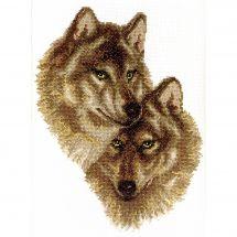 Kit point de croix - Charivna Mit - Loup et louve