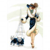 Kit point de croix - Charivna Mit - Une promenade dans Paris