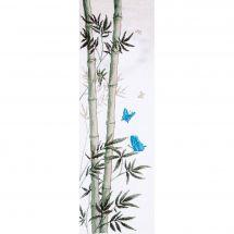 Kit point de croix - Charivna Mit - Papillons sur une tige de bambou
