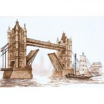 Kit point de croix - Charivna Mit - Londres. Tower Bridge