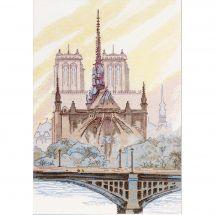 Kit point de croix - Charivna Mit - Paris. Notre-Dame de Paris