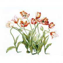 Kit point de croix avec perles - Charivna Mit - Un air de printemps
