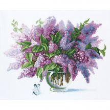 Kit point de croix - Charivna Mit - Bouquet de lilas