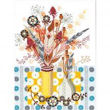 Kit point de croix avec perles - Charivna Mit - Bouquet d'hiver