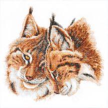 Kit point de croix - Charivna Mit - Tendresse de lynxs