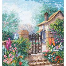 Kit point de croix avec perles - Charivna Mit - Jardin fleuri