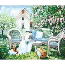 Kit point de croix - Charivna Mit - Dans le jardin fleuri