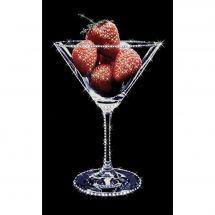 Broderie Crystal  - Charivna Mit - Verre de fraises