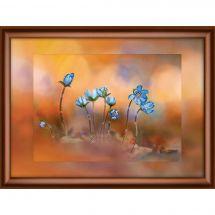 Broderie Crystal  - Charivna Mit - Fleurs bleues