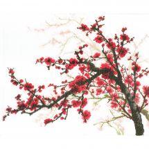 Kit point de croix avec perles - Charivna Mit - Branche de cerisier oriental