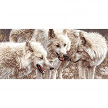 Kit point de croix - Charivna Mit - Loups blancs