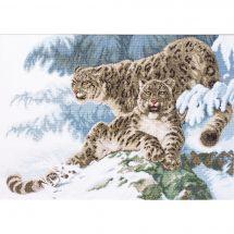 Kit point de croix - Charivna Mit - Panthères dans la neige