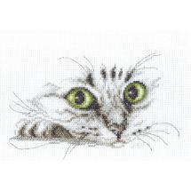 Kit point de croix - Charivna Mit - Regard de chat