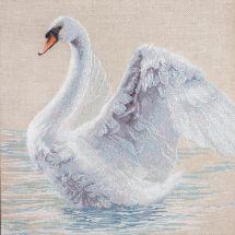 Kit point de croix - Charivna Mit - Le cygne blanc