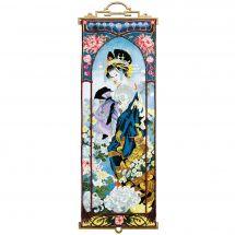 Kit point de croix avec perles - Charivna Mit - Geisha avec chrysanthèmes