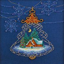 Kit point de croix avec perles - Charivna Mit - Lumière de Noël