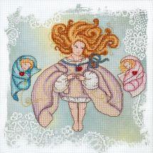 Kit point de croix avec perles - Charivna Mit - Ange désobéissant - bonheur de la mère