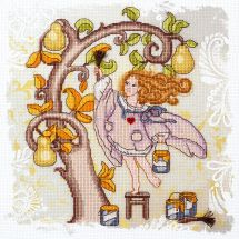 Kit point de croix avec perles - Charivna Mit - Ange désobéissant - odeur d'automne