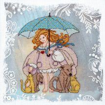 Kit point de croix avec perles - Charivna Mit - Ange désobéissant - bon coeur