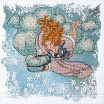 Kit point de croix avec perles - Charivna Mit - Ange désobéissant - il neige