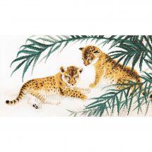 Kit point de croix - Charivna Mit - Bébés léopards