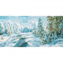 Kit point de croix - Charivna Mit - Gelée d'hiver