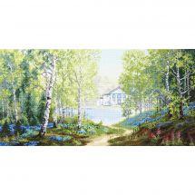 Kit point de croix - Charivna Mit - Matin dans la forêt au printemps