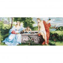 Kit point de croix - Charivna Mit - Amour sacré et Amour profane d'après Titien