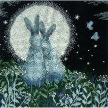 Kit point de croix - Charivna Mit - Lièvres de lune