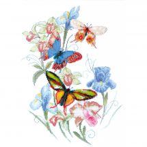Kit point de croix avec perles - Charivna Mit - Papillons