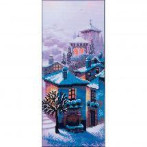 Kit point de croix avec perles - Charivna Mit - Triptyque soirée d'hiver