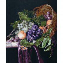 Kit point de croix - Charivna Mit - Nature morte aux raisins