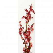 Kit point de croix avec perles - Charivna Mit - Cerisier oriental rouge