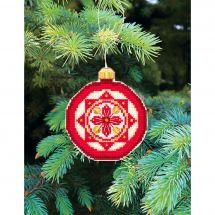 Kit d'ornement à broder - Charivna Mit - Joyeux Noël : Boule étoile