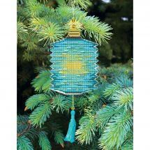 Kit d'ornement à broder - Charivna Mit - Lanternes colorées : Turquoise