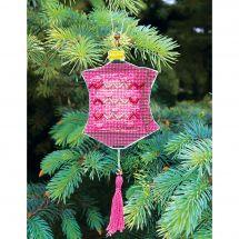 Kit d'ornement à broder - Charivna Mit - Lanternes colorées : Rose