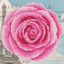 Kit de broderie Diamant - Diamond Art - Rose