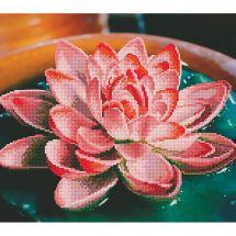 Kit de broderie Diamant - Diamond Art - Lotus