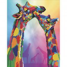 Kit de broderie Diamant - Diamond Art - Girafes