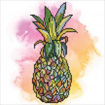 Kit de broderie Diamant - Diamond Art - Ananas