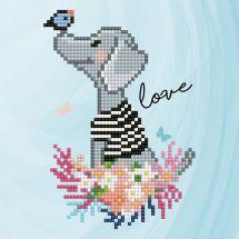 Kit de broderie Diamant - Diamond Art - Amour de chien