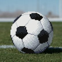 Kit de broderie Diamant - Diamond Art - Football