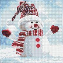 Kit de broderie Diamant - Diamond Art - Bonhomme de neige