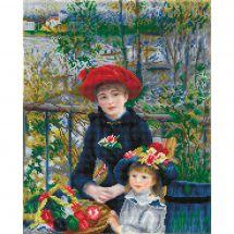 Kit de broderie Diamant - Diamond Dotz - Deux soeurs sur la terrasse d'après Renoir