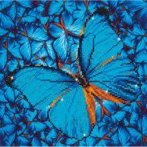 Kit de broderie Diamant - Diamond Dotz - Papillon bleu