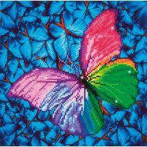Kit de broderie Diamant - Diamond Dotz - Papillon rose