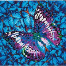 Kit de broderie Diamant - Diamond Dotz - Papillon mauve