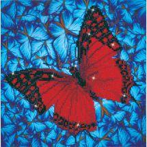 Kit de broderie Diamant - Diamond Dotz - Papillon rouge