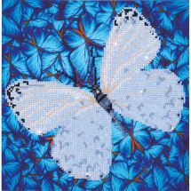 Kit de broderie Diamant - Diamond Dotz - Papillon blanc