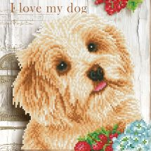 Kit de broderie Diamant - Diamond Dotz - J'aime mon chien